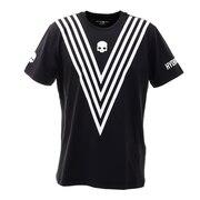 テニス ウェア メンズ Tシャツ 半袖 TECH VICTORY T00123 BLK/WHT