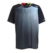 テニスウェア ドライプラス昇華 プリントTシャツ PT21SM401 NVY
