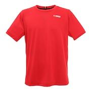 テニスウェア ドライプラス ワンポイント 半袖Tシャツ PT21FM404 RED