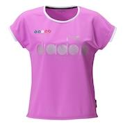 ジュニア ガールズ ロゴトップシャツ DTJ0590-82 【 半袖シャツ テニス バドミントン ウェア 】
