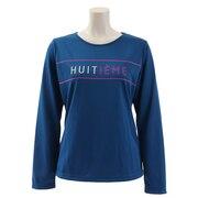 Tシャツ レディース 長袖 ロゴ HU19F02LS733164BLU 吸汗速乾/UVカット