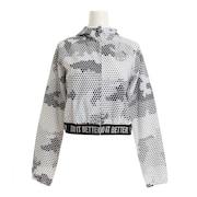 TECH スカル フルジップフーディー ジャケット T01008 WHITE 【テニスウェア レディース 】