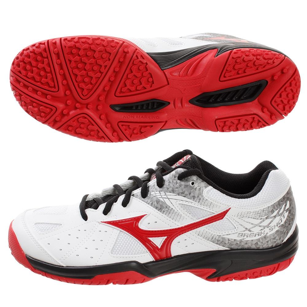 Mizuno BREAK SHOT 2 OC Tennis Shoes White Unisex Racket Racquet NWT 61GB194162