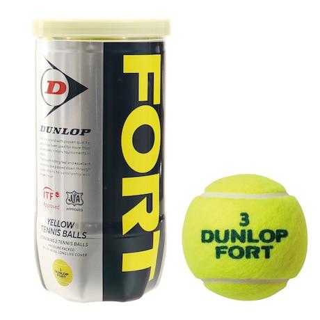 硬式用テニスボール フォート 缶 2個入り DFEYL2TIN 自主練