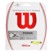 硬式テニスストリングス SYNTHETIC GUT POWER 16 Yellow WR830130416