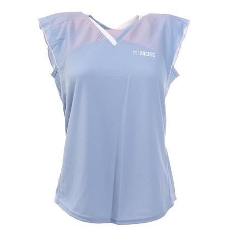 バドミントンウェア レディース Tシャツ PT20SW417 BLU