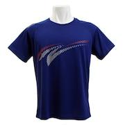 バドミントン ウェア Tシャツ 半袖 Tシャツ KTS-01UN NVY