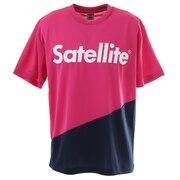 バドミントン ウェア Tシャツ 半袖 2トーン ドライ STS2D PINK/NAVY