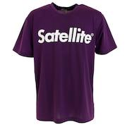 バドミントン ウェア Tシャツ 半袖 ドライ ロゴ STSDT PURPLE/WHITE