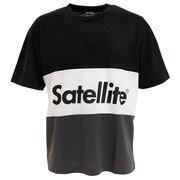 バドミントン ウェア Tシャツ 半袖 3トーン ドライ STS3D BLACK/WHITE/GRAY
