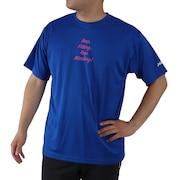 ドライプラス 文字入りTシャツ 740G0ES8863 BLU
