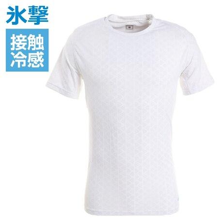 サッカー ウェア メンズ 氷撃 接触冷感 冷却インナーシャツ 半袖 クルーネック コンプレッション 猛暑対策 熱中症対策