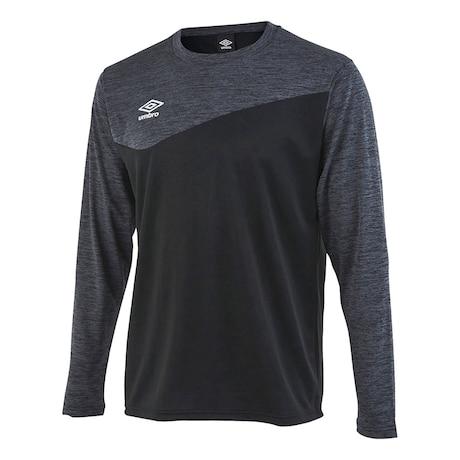 サッカーウェア 杢カラー長袖プラクティスシャツ UUUSJB52 BLK