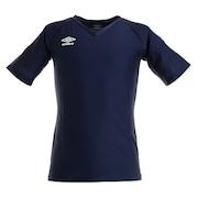サッカー ウェア メンズ Vネック半袖 プラクティスシャツ UAS9701 NVY