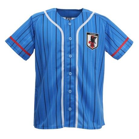 サッカー 侍ブルー SAMURAI BLUE 日本代表 ベースボールシャツ Sサイズ O3-242