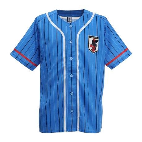 サッカー 侍ブルー SAMURAI BLUE 日本代表 ベースボールシャツ Lサイズ O3-244