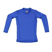 サッカー ジュニア インナー ストレッチ丸首インナーシャツ 742D7ES3089 青 アンダー シャツ 長袖