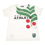 サッカー ウェア 半袖 ジュニア カフェブラ ロゴ Tシャツ 3323J WHT フットサルウェア
