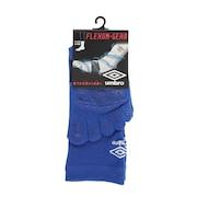 サッカー ソックス ジュニア 5フィンガーショートソックス ストッキング UAS8622 BLU24 青 靴下