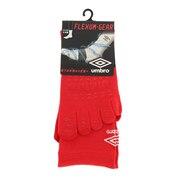 サッカー ソックス 靴下 5フィンガーショートストッキング UAS8622 MRED30