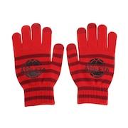 ニットグローブ 5263 RED スマホ対応 サッカー フットサル 防寒 手袋