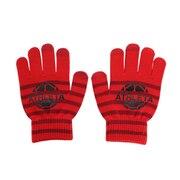 ジュニア フィールドニットグローブ 5263J RED スマホ対応 サッカー フットサル 防寒 手袋