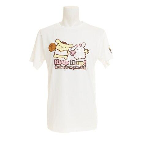 【ポイント15倍】【多少の傷汚れありの為大奉仕】吸汗速乾 Tシャツ 半袖 ポムポムプリン バスケ SR0173004 白 バスケットボール ウェア