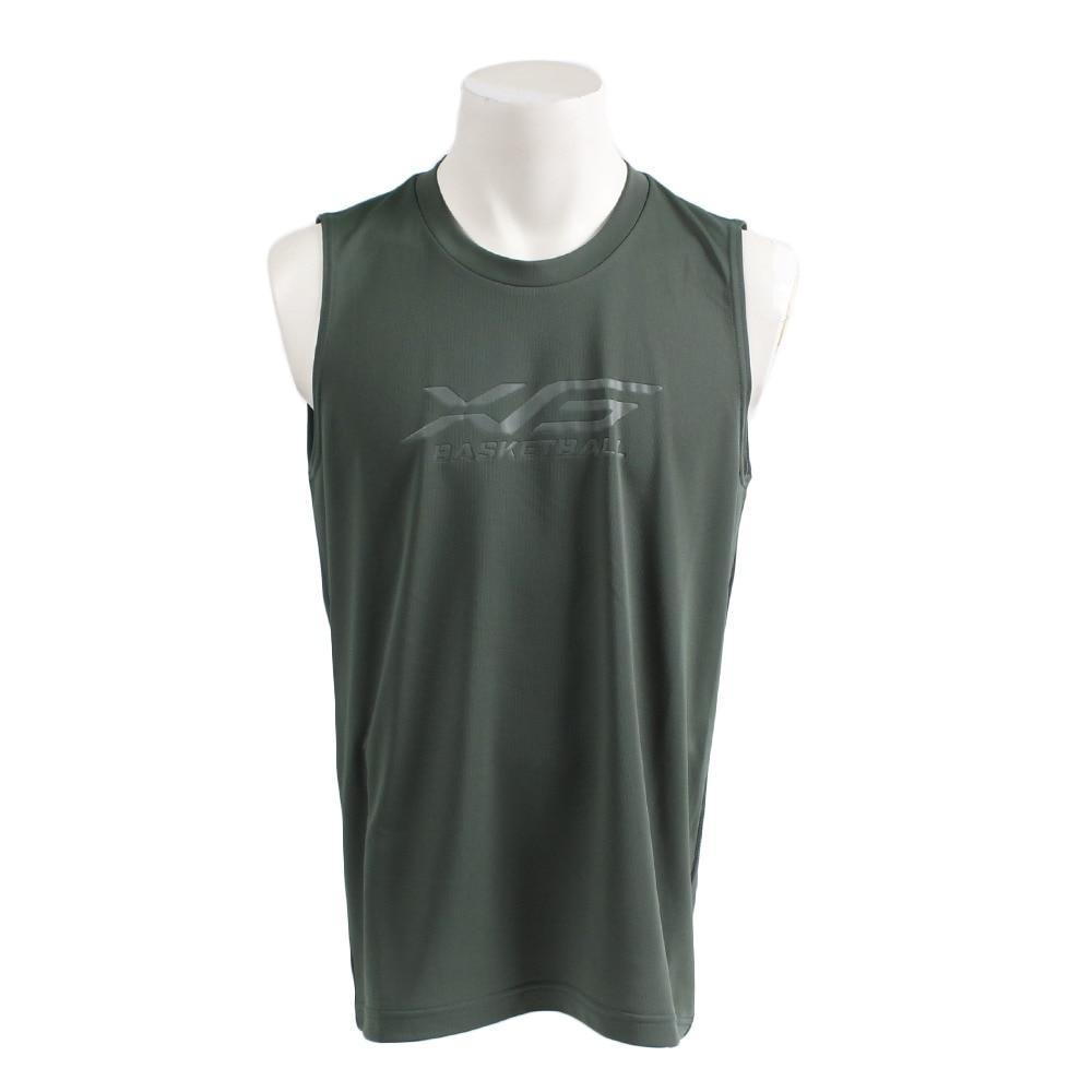 XTS ドライプラス バスケノースリーブシャツ 751G9ES1002 DGRN LL 39 バスケットボール