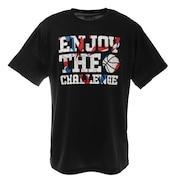 半袖Tシャツ DP Enjoy the challen 751G1ES4408 BLK