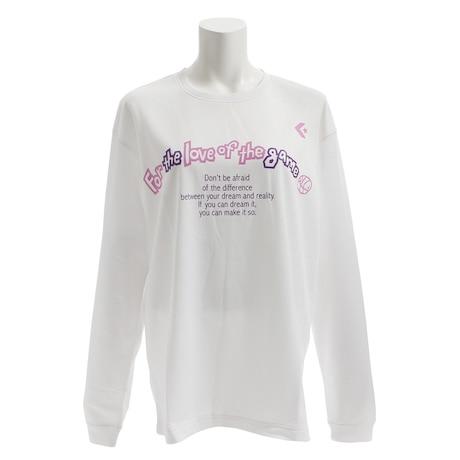 【ポイント15倍】【多少の傷汚れありの為大奉仕】Tシャツ 長袖 プリント CB382306L-1100 【バスケットボール ウェア】