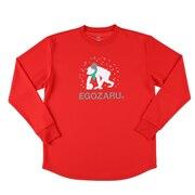 Tシャツ メンズ 長袖 雪だるま EZLT-1913-069 【バスケットボール ウェア】 【エゴザル限定】