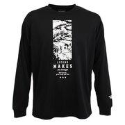 ドライプラス メッセージTシャツ 751G0CD1630 BLK