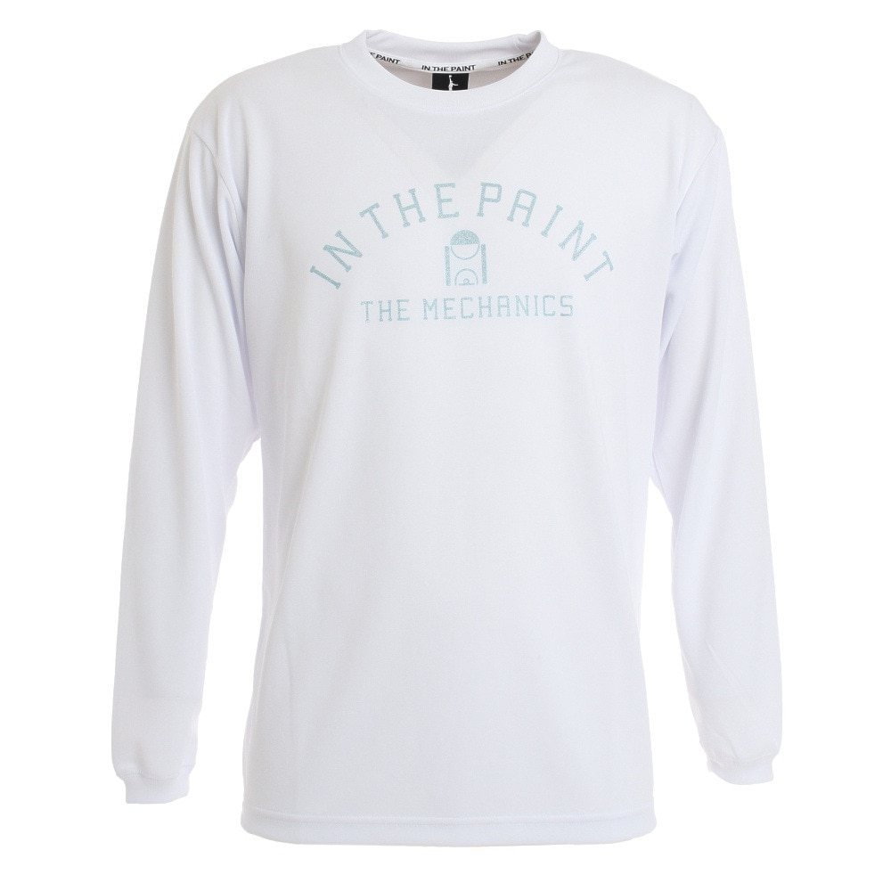IN THE PAINT ロングスリーブシャツ ITP20403WHT LL 10 バスケットボール