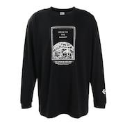 プリントクルーネックロングスリーブTシャツ CB202365L-1900