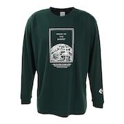 プリントクルーネックロングスリーブTシャツ CB202365L-4700
