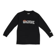 ジュニア ドライプラス 長袖Tシャツ 751G0CD1646 BLK