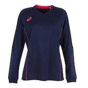 レディース バレーボールウェア Tシャツ 長袖 プラクティスロングスリーブトップス 2052A043.400 練習着