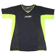 【大奉仕!多少のキズ汚れ有】ドライプラス ジャガードバレー 半袖Tシャツ 761G8ES3541 BK/LM バレーボールウェア レディース