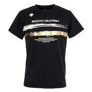 プラクティス 半袖Tシャツ DX-B0322XB BLK 【バレーボールウェア スポーツウェア】
