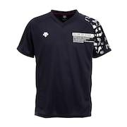 バレーボールウェア 半袖プラクティスシャツ DVURJA54 NV