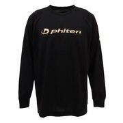 Tシャツ 長袖 RAKUシャツ SPORTS 吸汗速乾 ロゴ 3116JG1802 【バレーボールウェア スポーツウェア】