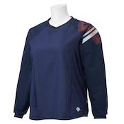 バレーボールウェア ロングスリーブプラクティスシャツ DVWSJK30 NV