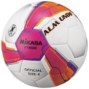 サッカーボールALMUND 検定球4号 貼り FT450B-PV