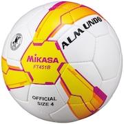 サッカーボールALMUND 検定球4号 手縫い FT451B-YP