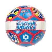 サッカーボール レトロ柄 HEROシリーズ キャプテン・アメリカ SB-21MV01