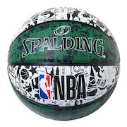 グラフィティラバー グリーン 7号球 NBAロゴ入り 84-306J 自主練