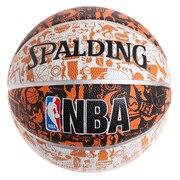バスケットボール 5号球 (小学校用) ジュニア グラフィティ オレンジ ラバー NBAロゴ入り 83-360J 自主練