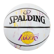 バスケットボール 5号球 (小学校用) ジュニア レイカーズ マーブル ラバー 83-927J 自主練