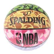 バスケットボール ミックスカモ ラバー 5号球 84-195J 自主練