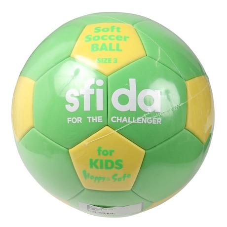 キッズ ソフトサッカーボール 軽量3号 BSF-SHS GRN 3